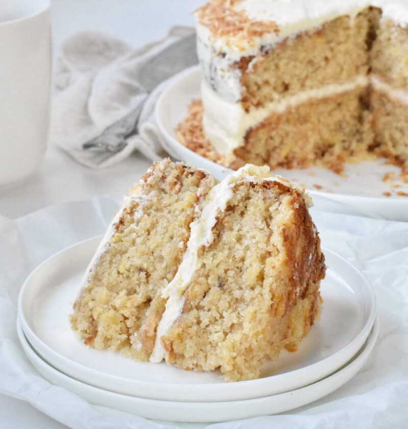 displayed cake slice