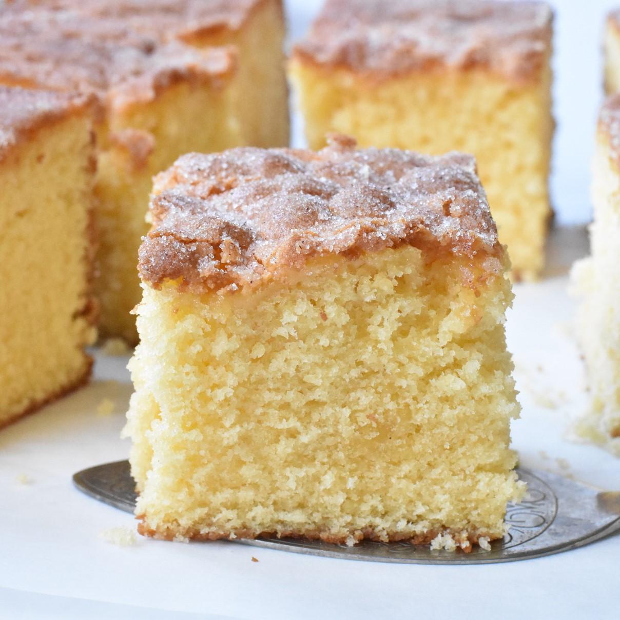 Cinnamon Tea Cake slices.