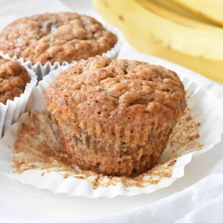 Easy Banana Muffins fresh out of the oven.