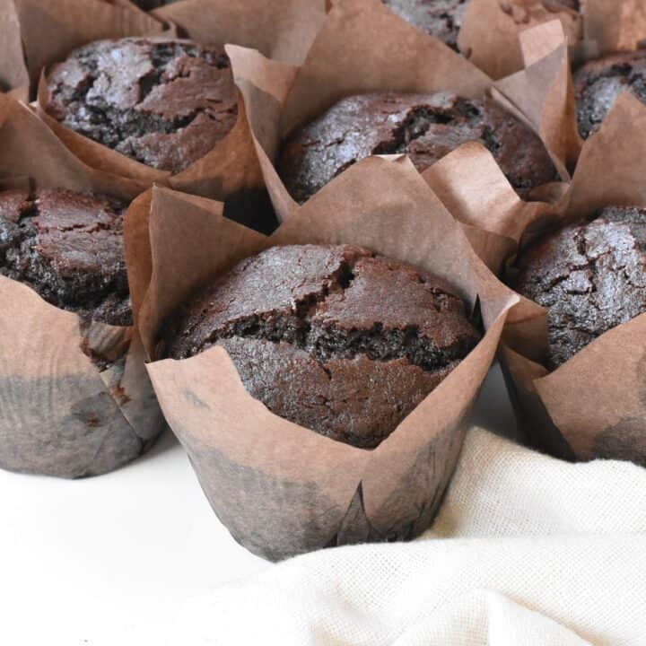 Bakery Style Chocolate Chip Muffins fresh out of oven.