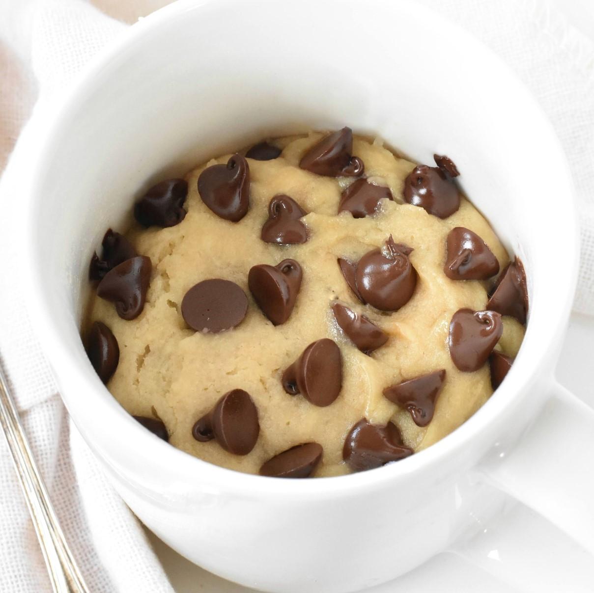 1 Minute Chocolate Chip Mug Cookie No Egg Baking Envy