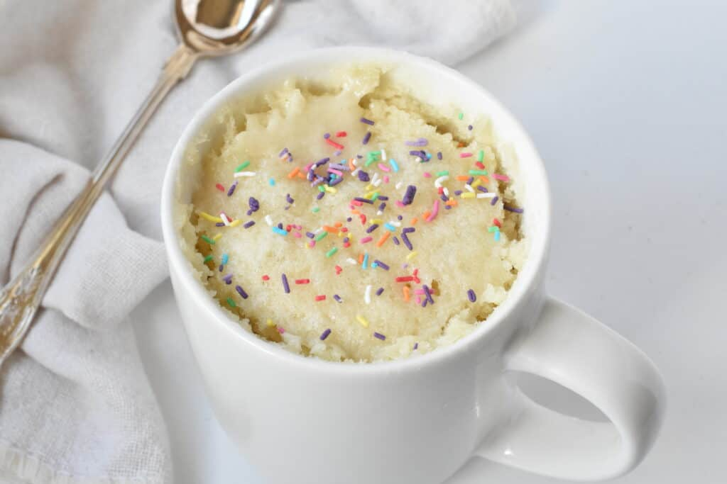 5 Minute Vanilla Mug Cake No Eggs Baking Envy