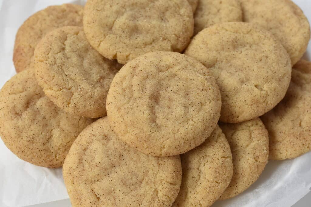 Snickerdoodles Stacked on a Plate